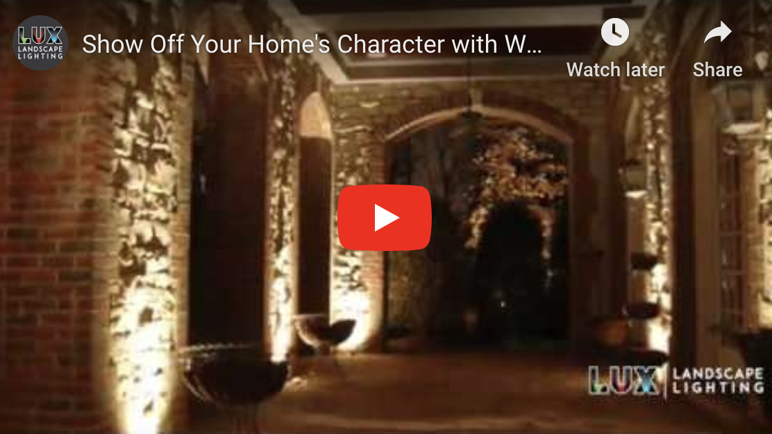 Show Off Your Home's Character with Wall Wash Landscape Lighting