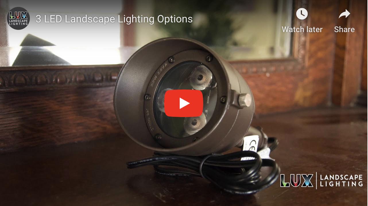 3 LED Landscape Lighting Options