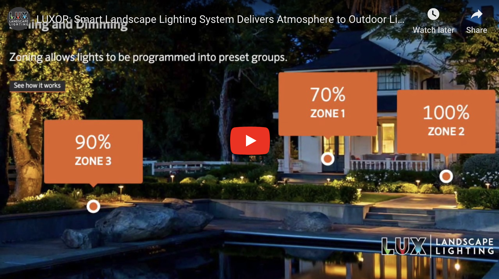[VIDEO] LUXOR: Smart Landscape Lighting System Delivers Atmosphere to Outdoor Living