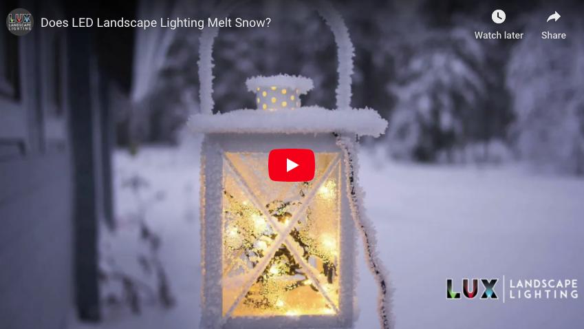 Does LED Landscape Lighting Melt Snow?