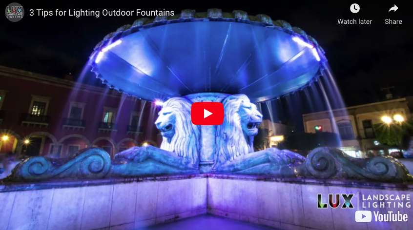 3 Tips for Lighting Outdoor Fountains