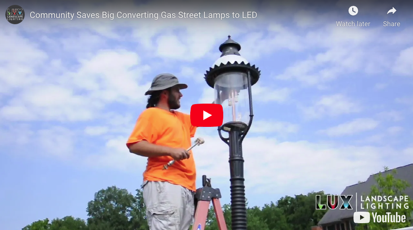 Community Saves Big Converting Gas Street Lamps to LED