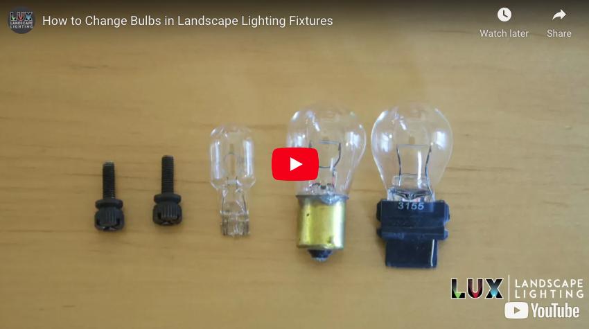 How to Change Bulbs in Landscape Lighting Fixtures