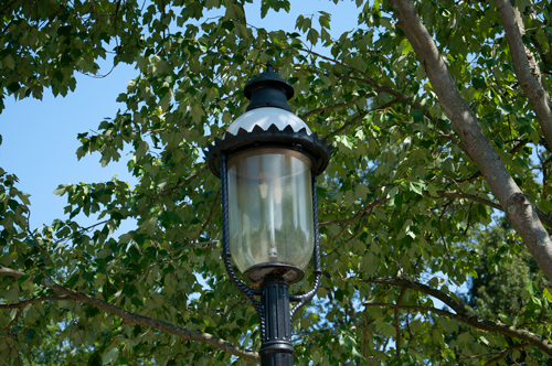 Gas Street Lamp Conversion to LED Saves Energy and Money