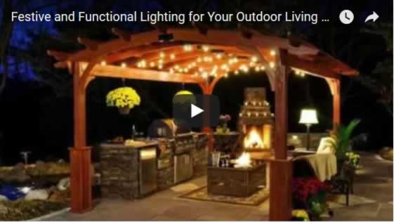 Festive and Functional Lighting for Your Outdoor Living Spaces